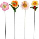 Poly blossom viola to stick, 4 motifs, H4cm, color